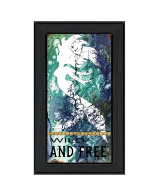 """Wild and Free by Cindy Jacobs, Ready to hang Framed Print, Black Frame, 11"""" x 19"""""""