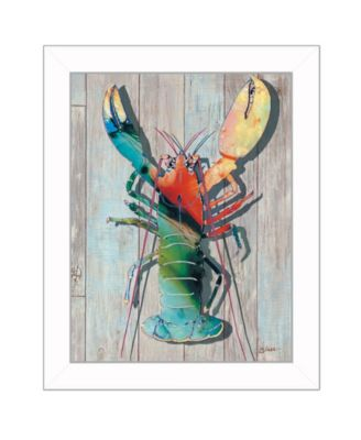 """Lobster II By Sear, Printed Wall Art, Ready to hang, White Frame, 14"""" x 18"""""""