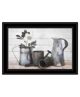 Floral Farmhouse II by Robin-Lee Vieira, Ready to hang Framed Print, Black Frame, 21