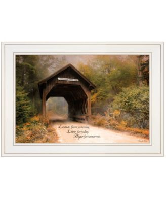 """Live for Today by Robin-Lee Vieira, Ready to hang Framed Print, White Frame, 21"""" x 15"""""""