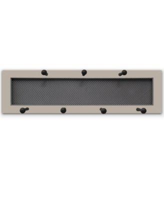 "7-Peg Mug Rack by Millwork Engineering, Sand Frame, 26"" x 7"""