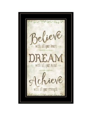 Believe by Mollie B, Ready to hang Framed Print, White Frame, 12