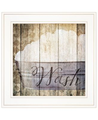 """Wash by Misty Michelle, Ready to hang Framed Print, White Frame, 15"""" x 15"""""""