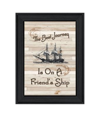 """Friendship Journey by Millwork Engineering, Ready to hang Framed Print, Black Frame, 11"""" x 15"""""""