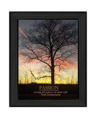 "Passion By Trendy Decor4U, Printed Wall Art, Ready to hang, Black Frame, 15"" x 19"""