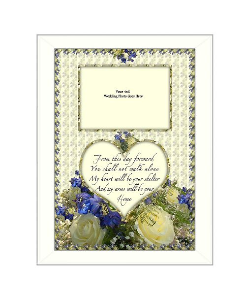 """Trendy Decor 4U Trendy Decor 4U From this Day By Trendy Decor4U, Printed Wall Art, Ready to hang, White Frame, 14"""" x 10"""""""