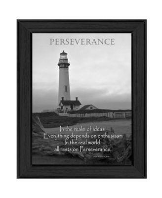 "Perseverance By Trendy Decor4U, Printed Wall Art, Ready to hang, Black Frame, 18"" x 14"""