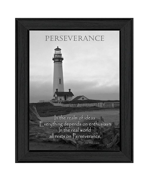 "Trendy Decor 4U Trendy Decor 4U Perseverance By Trendy Decor4U, Printed Wall Art, Ready to hang, Black Frame, 18"" x 14"""