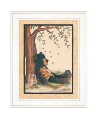 """Nap Time by Mary June, Ready to hang Framed Print, White Frame, 15"""" x 19"""""""