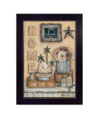 """Friends by by Mary Ann June, Ready to hang Framed Print, Black Frame, 14"""" x 20"""""""