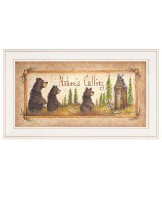 """Natures Calling by Mary Ann June, Ready to hang Framed Print, White Frame, 11"""" x 19"""""""