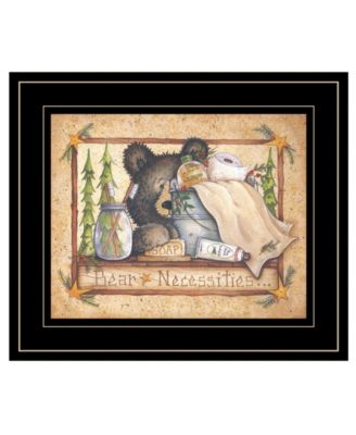 Bear Necessities by Mary Ann June, Ready to hang Framed Print, White Frame, 13