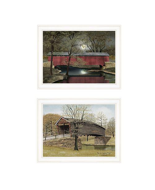 "Trendy Decor 4U Trendy Decor 4U Bridge Collection I 2-Piece Vignette by Billy Jacobs, White Frame, 27"" x 21"""