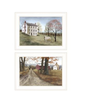 """The Road Home 2-Piece Vignette by Billy Jacobs, White Frame, 21"""" x 15"""""""