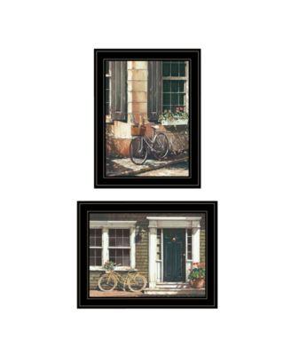 "A Picnic Getaway 2-Piece Vignette by John Rossini, Black Frame, 15"" x 19"""