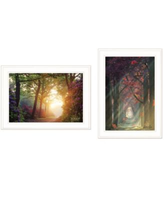 """Path of Happiness 2-Piece Vignette by Martin Podt, White Frame, 21"""" x 15"""""""