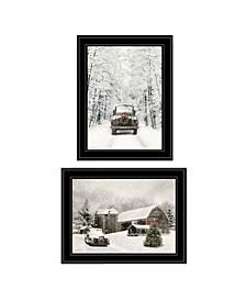 Trendy Decor 4U Antique Christmas 2-Piece Vignette by Lori Deiter, Frame Collection