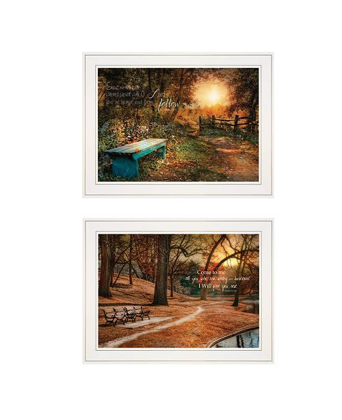 "Trendy Decor 4U Trendy Decor 4U Resting Places 2-Piece Vignette by Robin-Lee Vieira, White Frame, 19"" x 15"""