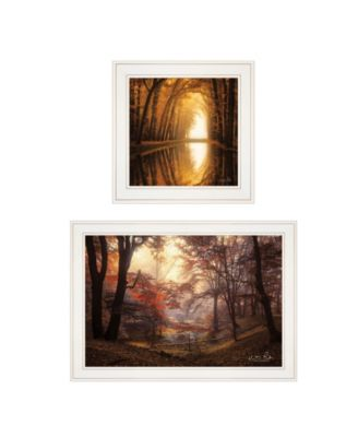 """Nature's Reflections 2-Piece Vignette by Martin Podt, White Frame, 27"""" x 15"""""""
