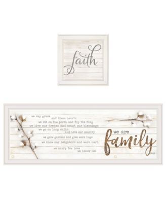 """We are Family 2-Piece Vignette by Marla Rae, White Frame, 39"""" x 15"""""""