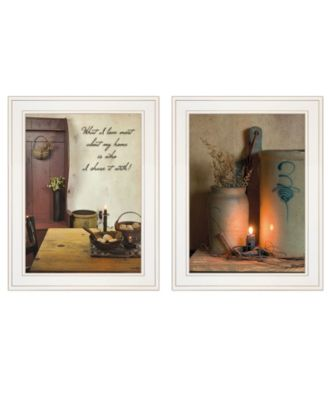 """What I Love Most 2-Piece Vignette by Susie Boyer, White Frame, 15"""" x 19"""""""