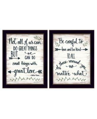 "Great Love 2-Piece Vignette by Annie LaPoint, Black Frame, 14"" x 18"""