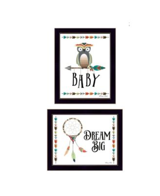 Baby Owl/Dream Big Collection By Susan Boyer, Printed Wall Art, Ready to hang, White Frame, 18