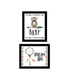 "Trendy Decor 4U Baby Owl/Dream Big Collection By Susan Boyer, Printed Wall Art, Ready to hang, Black Frame, 18"" x 14"""