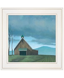 """Lonesome Barn by Tim Gagnon, Ready to hang Framed print, White Frame, 15"""" x 15"""""""