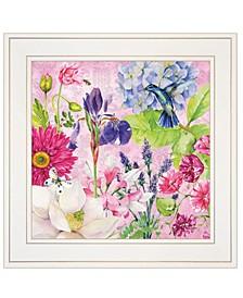 "Trendy Decor 4U English Garden IV by Barb Tourtillotte, Ready to hang Framed Print, White Frame, 15"" x 15"""