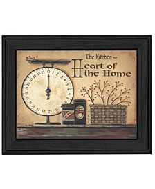 """Trendy Decor 4U Heart of the Home By Pam Britton, Printed Wall Art, Ready to hang, Black Frame, 14"""" x 18"""""""