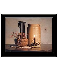 "Bittersweet Basket by Susie Boyer, Ready to hang Framed Print, Black Frame, 19"" x 15"""