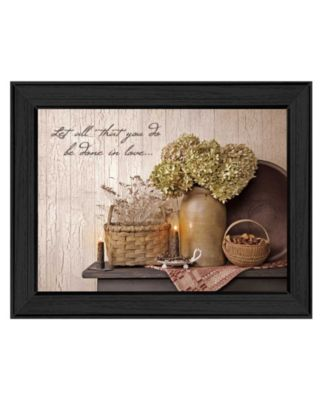 Done in Love By SUSAn Boyer, Printed Wall Art, Ready to hang, Black Frame, 18