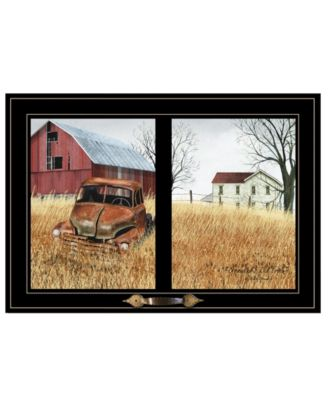 """Granddads Old Truck by Billy Jacobs, Ready to hang Framed Print, Black Window-Style Frame, 21"""" x 15"""""""