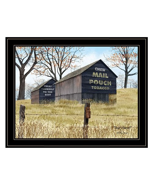 "Trendy Decor 4U Trendy Decor 4U Treat Yourself Mail Pouch Barn by Billy Jacobs, Ready to hang Framed Print, Black Frame, 27"" x 21"""