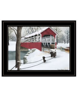 Crisp Winter Evening by Billy Jacobs, Ready to hang Framed Print, White Frame, 19
