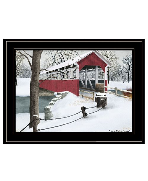 "Trendy Decor 4U Trendy Decor 4U Crisp Winter Evening by Billy Jacobs, Ready to hang Framed Print, Black Frame, 19"" x 15"""
