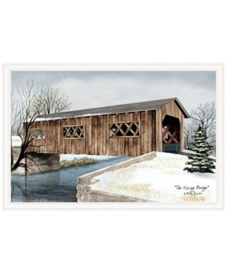 """The Kissing Bridge by Billy Jacobs, Ready to hang Framed Print, White Frame, 38"""" x 26"""""""