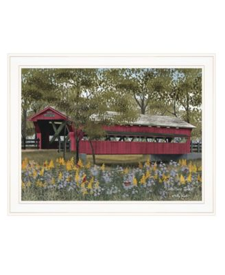 """Pottersburg Bridge by Billy Jacobs, Ready to hang Framed Print, White Frame, 27"""" x 21"""""""