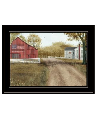 """Summer in the Country by Billy Jacobs, Ready to hang Framed Print, Black Frame, 19"""" x 15"""""""