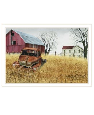 """Granddad's Old Truck by Billy Jacobs, Ready to hang Framed Print, White Frame, 33"""" x 23"""""""