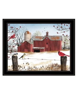 """Winter Friends by Billy Jacobs, Ready to hang Framed Print, Black Frame, 27"""" x 21"""""""