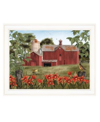 """Summer Days by Billy Jacobs, Ready to hang Framed Print, White Frame, 27"""" x 21"""""""