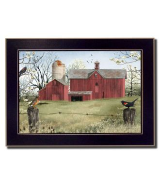 Harbingers of Spring By Billy Jacobs, Printed Wall Art, Ready to hang, Black Frame, 18