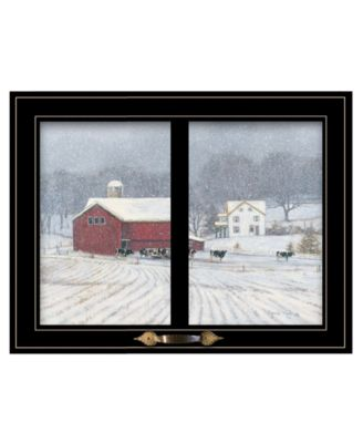 """The Home Place by Bonnie Mohr, Ready to hang Framed Print, Black Window-Style Frame, 19"""" x 15"""""""