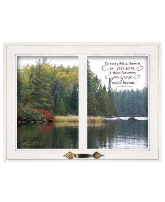 """To Everything There is a Season by Kim Norlien, Ready to hang Framed Print, White Window-Style Frame, 19"""" x 15"""""""
