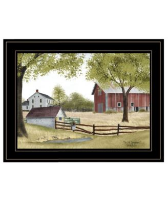 """The Old Spring House by Billy Jacobs, Ready to hang Framed Print, Black Frame, 19"""" x 15"""""""