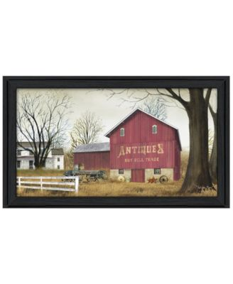 """Antique Barn By Billy Jacobs, Printed Wall Art, Ready to hang, Black Frame, 33"""" x 19"""""""