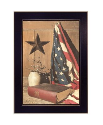 """God and Country By Billy Jacobs, Printed Wall Art, Ready to hang, Black Frame, 14"""" x 10"""""""