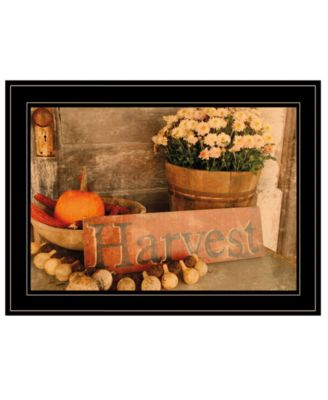 Autumn Harvest by Anthony Smith, Ready to hang Framed Print, Black Frame, 19